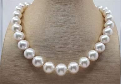 12x14.8mm Round Australian South Sea Pearls Steel -