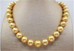 Large 10.2x13mm 24K Golden Saturation South Sea Pearls