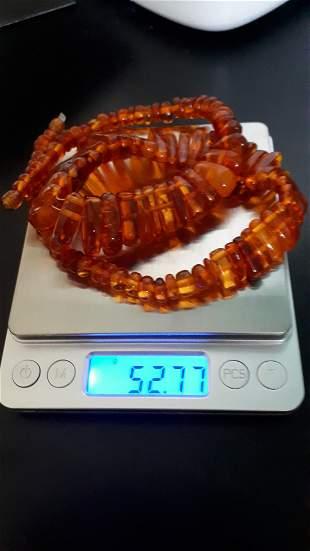 Modern Cognac Amber Necklace Collier