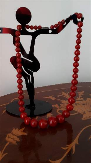 Vintage Cherry Amber Bakelite Necklaces and Similar