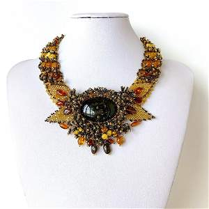 Exquisite Amber Cleopatra necklace