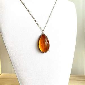 Incredible Amber Pendant shaped like a Drop