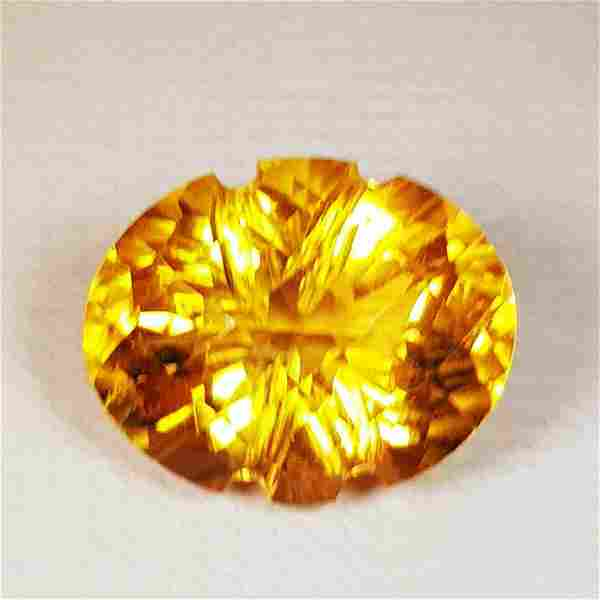 Natural Citrine Oval Flower Cut 5.35 ct