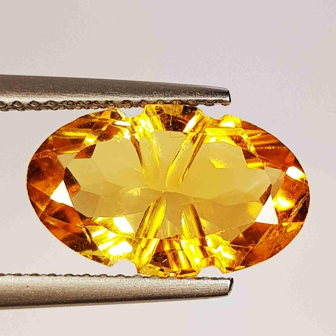 4.35 ct Natural Citrine Oval Flower cut