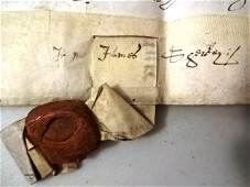 1632 Vellum Indenture James Sherley Pilgrim Financier