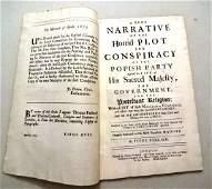 1679 Narrative Horrid Popish Plot England