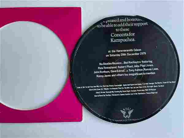 AMAZINGLY RARE CONCERTS FOR KAMPUCHEA PICTURE DISC