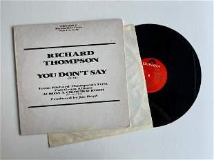 PROMO DJ COPY OF Richard Thompson – You Don't Say