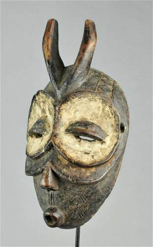 BEMBE Beautiful Zoomorphic Owl Mask Congo DRC African