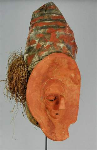 Initiation YAKA Mask Congo Rdc Bayaka African Tribal