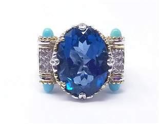 Michael Valitutti London Blue Topaz Gems En Vogue