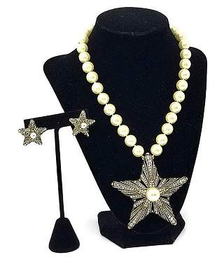 Heidi Daus Star of the Show Crystal Necklace Earrings