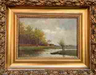 Oil painting Near the forest Unknown artist