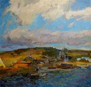 Oil painting Summer evening Zakharov Fedor Zakharovich