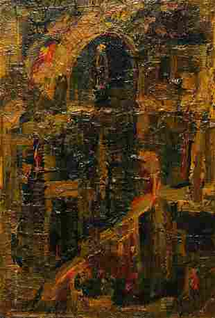 Abstract oil painting Easter Mazur Vladimir