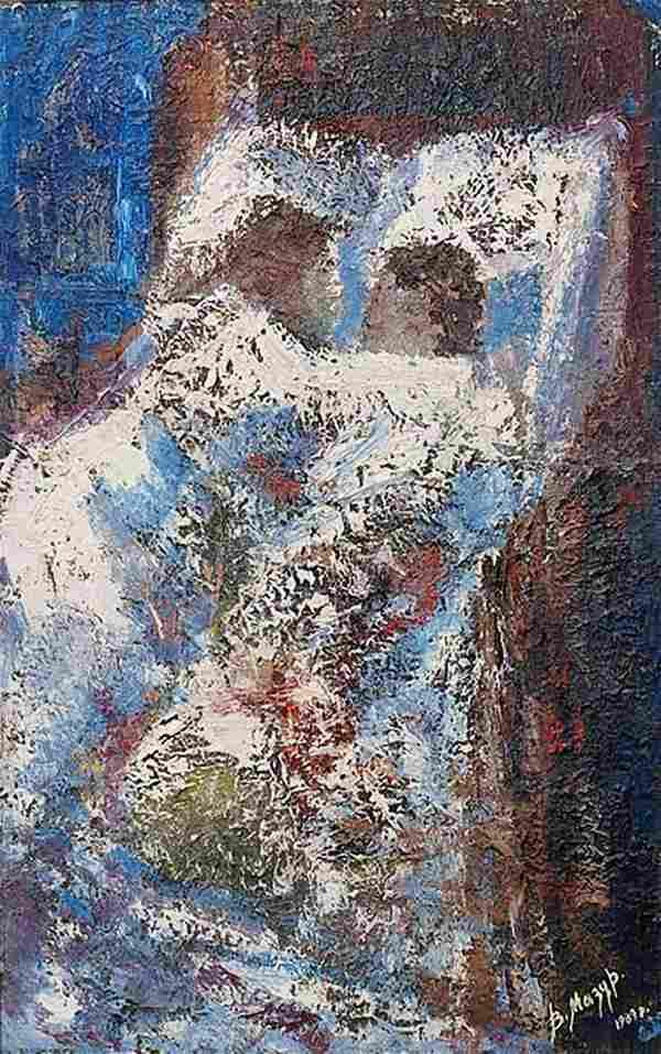 Abstract oil painting Dawn. Sleep Mazur Vladimir