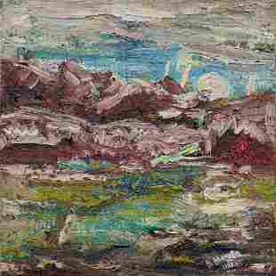 Abstract oil painting Meadow Mazur Vladimir