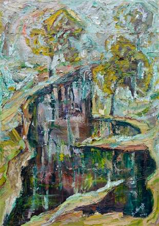 Abstract oil painting Fog Mazur Vladimir