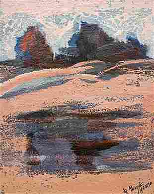 Abstract oil painting Outside the city Mazur Vladimir
