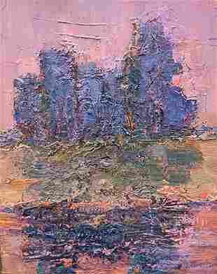 Abstract oil painting Warm evening Mazur Vladimir