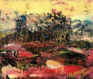 Abstract oil painting Pink silence Mazur Vladimir