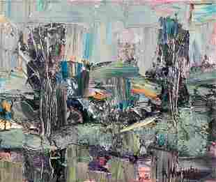 Abstract oil painting After the rain Mazur Vladimir