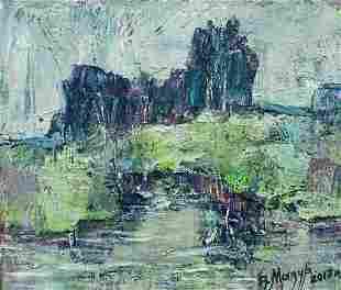 Abstract oil painting Morning silence Mazur Vladimir