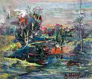 Abstract oil painting Deep in nature Mazur Vladimir
