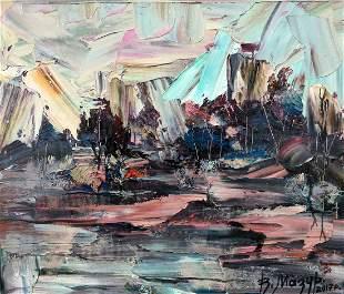 Abstract oil painting September day Mazur Vladimir