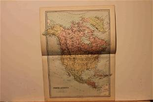 873 Map of North America