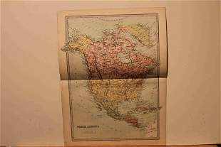 1873 Map of North America