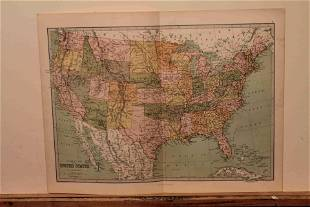 1873 Map of the United States