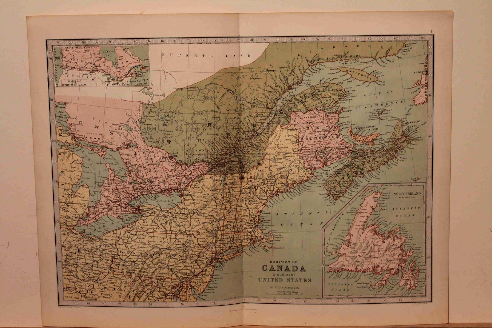 1873 Map of Canada