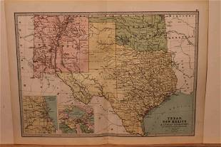 1873 Map of Texas and the Indian Territory