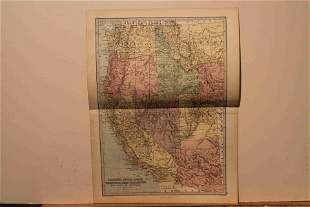 1873 Map of the US Western States