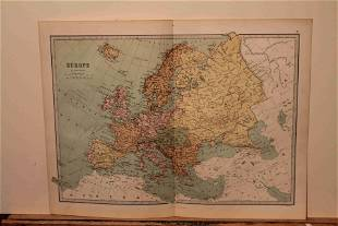 1873 Map of Europe