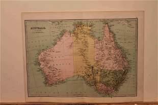1873 Map of Australia