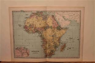 1873 Map of Africa