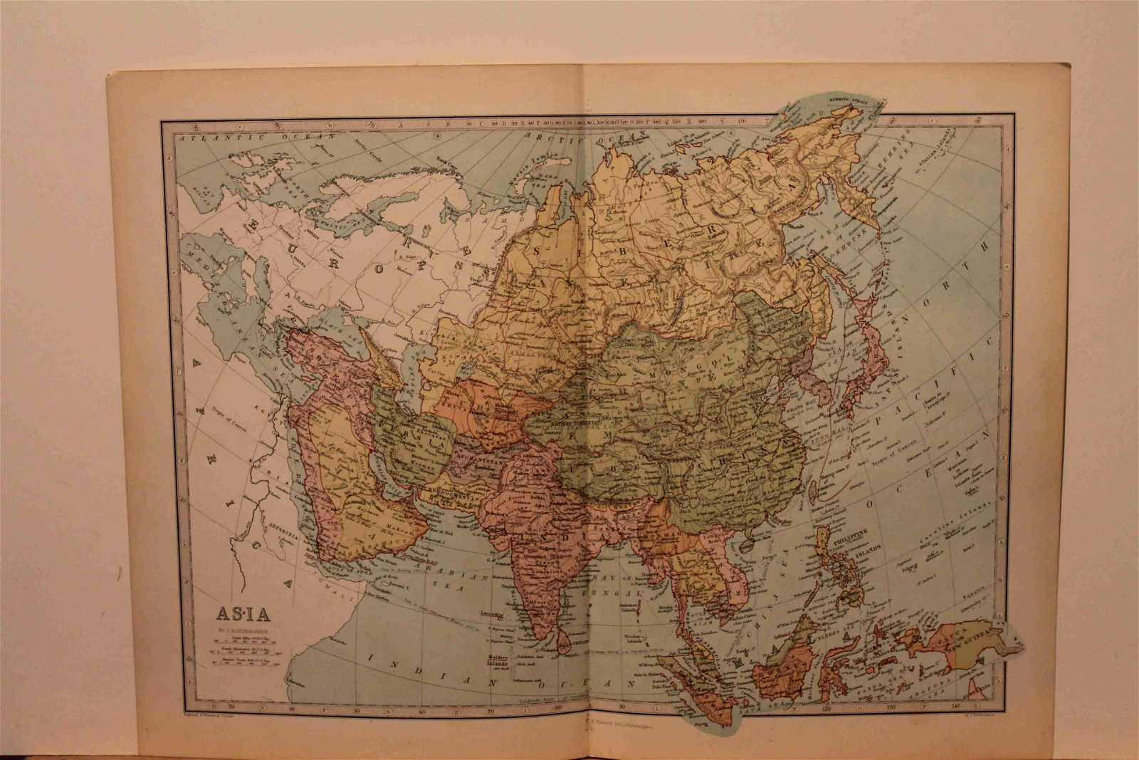 1873 Map of Asia