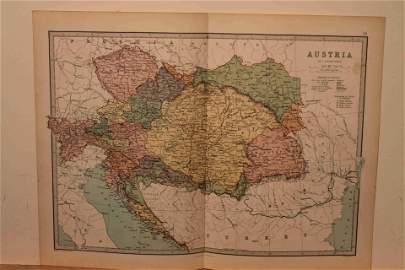 1873 Map of the Austrian Empire