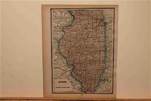 1890 Map of Illinois