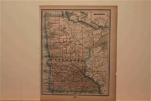 1890 Map of Minnesota