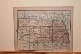 1890 Map of Nebraska