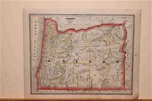 1883 Map of Oregon