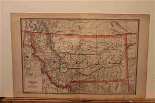1883 Map of Montana