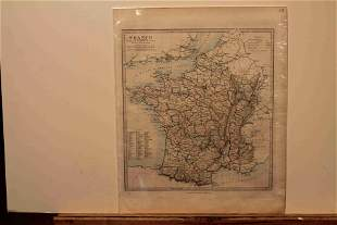 1828 Map of France