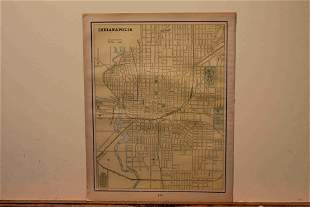 1900 Map of Indianapolis