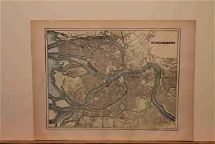 1900 Map of St. Petersburg