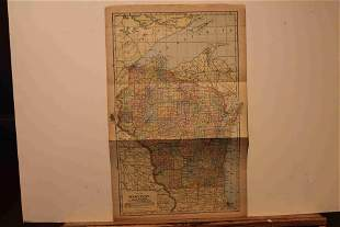 1898 Map of Wisconsin