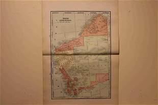 1900 Map of West Australia